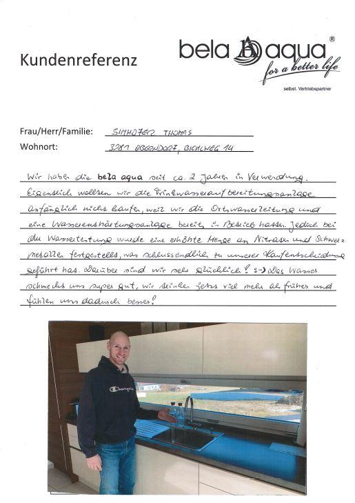Hansjörg Leitner Bela Aqua Wasserfilter Reines Wasser Freiheit Mentor Coach Geld Passiveinkommen Osmosefilter Osmoseanlage Wasseranlage Verkauf Vertrieb